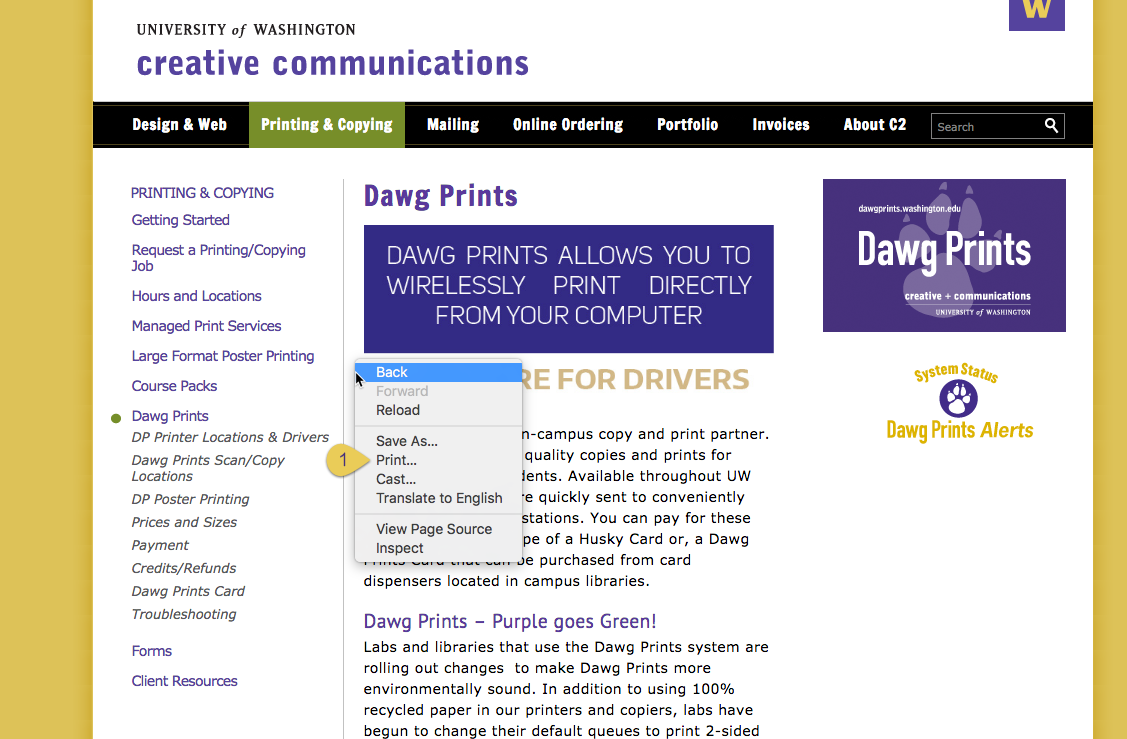 how to print creative communications