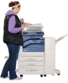 photo of student at copier