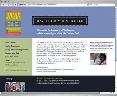 UW Common Book website