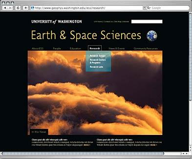 Earth & Space Sciences website