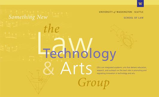The Law, Technology, and Arts postcard