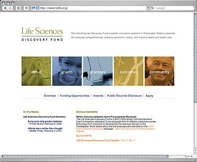 Life Sciences Discovery Fund Website
