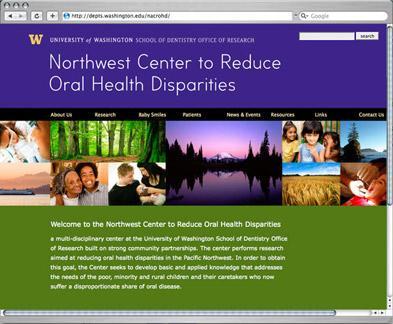 Northwest Center to Reduce Oral Health Disparities website