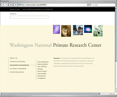Washington National Primate Research Center website
