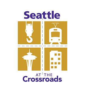 Seattle at the Crossroads event identity