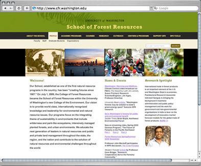 School of Forest Resources website