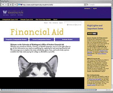 Office of Student Financial Aid website
