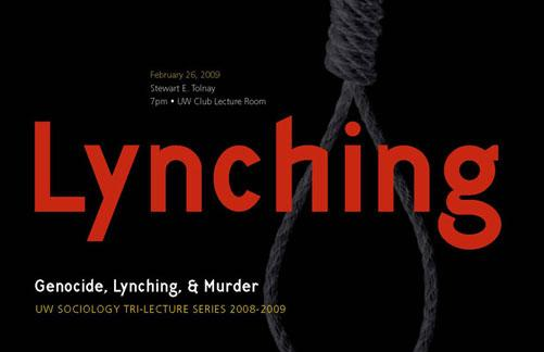 UW Sociology Tri-lecture Series postcard
