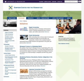 Initiatives page