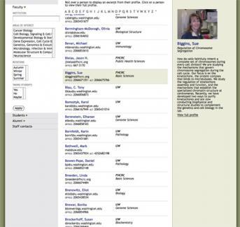Molecular & Cellular Biology Website > Faculty Directory