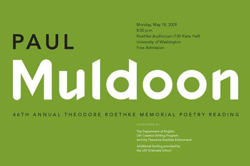 Theodore Roethke Memorial Poetry Reading postcard