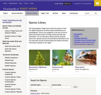 Species page
