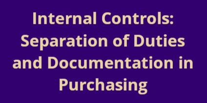 link to CORE class on internal controls