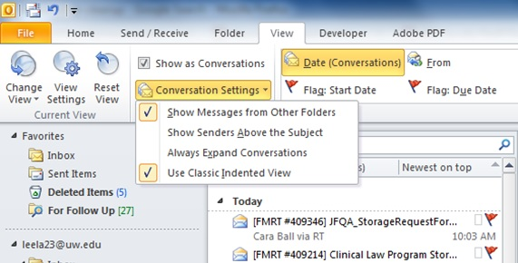 How to set up Conversation Cleanup in Outlook | Records