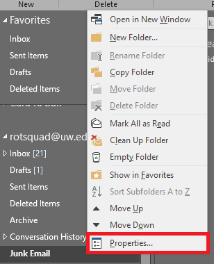 Screenshot of file tab with properties highlighted