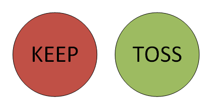 two circles keep or toss